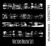 set of four vector grunge... | Shutterstock .eps vector #263502791