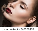beautiful blonde in a hollywood ... | Shutterstock . vector #263503457
