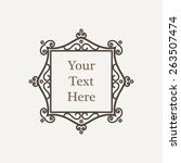 vector ornate richly decorated... | Shutterstock .eps vector #263507474