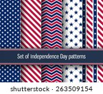 set of stars and stripes... | Shutterstock .eps vector #263509154