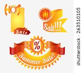hot sale banners set. vector... | Shutterstock .eps vector #263510105