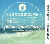 vinyl cover or label design... | Shutterstock .eps vector #263511239