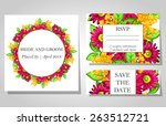 wedding invitation cards with... | Shutterstock .eps vector #263512721