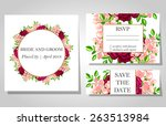 wedding invitation cards with... | Shutterstock .eps vector #263513984