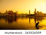 Sunset At Golden Temple In...
