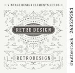 vintage vector swirls ornaments ... | Shutterstock .eps vector #263529281