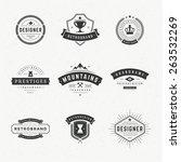 retro vintage insignias or... | Shutterstock .eps vector #263532269