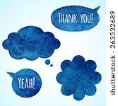 dark blue watercolor vector...   Shutterstock .eps vector #263532689