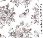 seamless vector vintage pattern ... | Shutterstock .eps vector #263532719