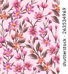 floral seamless pattern with... | Shutterstock .eps vector #263534969