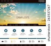website design template for... | Shutterstock .eps vector #263537267