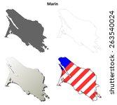 marin county  california ... | Shutterstock .eps vector #263540024