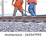 Railway Embankment  Rails And...