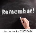conceptual handwritten remember ... | Shutterstock . vector #263550434