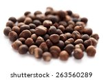 Small photo of Collection of Abelmoschus moschatus (ambrette) seed