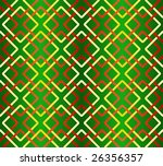 Geometric seamless pattern in red-green-yellow colors - stock vector