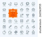 thin lines web icon set   pet ... | Shutterstock .eps vector #263563955