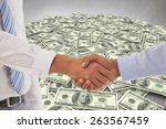 close up shot of a handshake in ... | Shutterstock . vector #263567459
