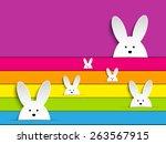 vector   happy easter rabbit... | Shutterstock .eps vector #263567915