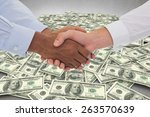 close up shot of a handshake in ... | Shutterstock . vector #263570639