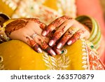 beautifully decorated indian... | Shutterstock . vector #263570879