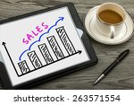 sales graph concept hand...   Shutterstock . vector #263571554