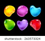 set of glossy jewel stones for...