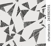 seamless geometric vector... | Shutterstock .eps vector #263582531