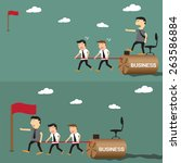 difference between boss and... | Shutterstock .eps vector #263586884
