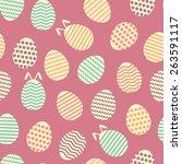 seamless easter egg spring... | Shutterstock .eps vector #263591117