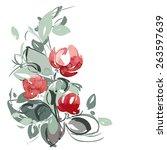 Vector Illustration Of Roses....