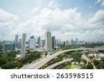marina bay  singapore   march... | Shutterstock . vector #263598515