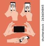 byod design over orange... | Shutterstock .eps vector #263604845