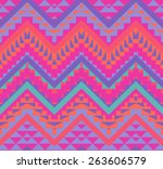 seamless colorful navajo pattern | Shutterstock .eps vector #263606579