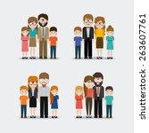 family design over white... | Shutterstock .eps vector #263607761