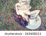 Beautiful Woman Relaxing On A...