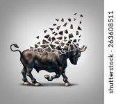 fragile bull market financial... | Shutterstock . vector #263608511