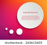 abstract creative concept... | Shutterstock .eps vector #263613605