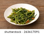 Quick Fried Water Spinach With...