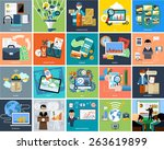 set of business concepts... | Shutterstock .eps vector #263619899