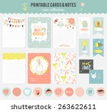 romantic and love cards  notes  ... | Shutterstock .eps vector #263622611