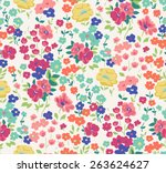 Stock vector seamless cute flower vector pattern 263624627