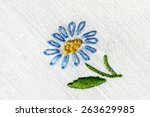 Cotton Fabric Embroidered With...