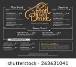 menu restaurant hipster style.  | Shutterstock .eps vector #263631041