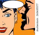 pop art vintage comic. the man... | Shutterstock .eps vector #263635577
