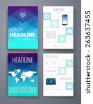 templates. vector flyer ...   Shutterstock .eps vector #263637455