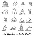 collection of apartments.... | Shutterstock .eps vector #263639405