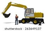 excavator with construction... | Shutterstock . vector #263649137
