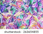 colorful micro crystals in... | Shutterstock . vector #263654855
