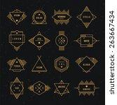 hipster logo. set. | Shutterstock .eps vector #263667434